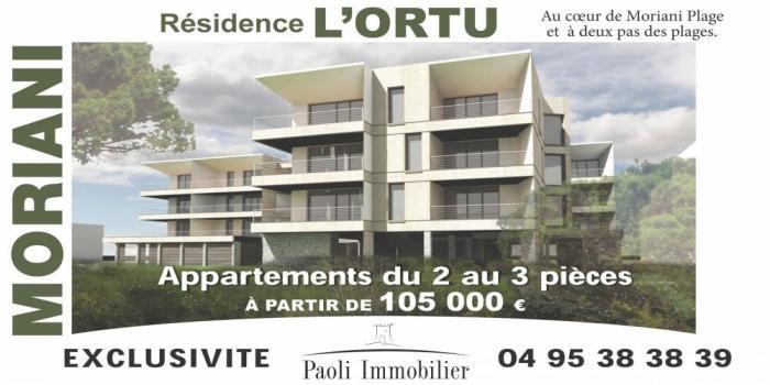 MORIANI PLAGE, 20230, 1 Chambre Chambres, ,1 Salle de bainsSalle de bain,T2,L ORTU,1046
