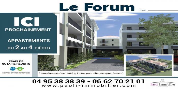 FOLELLI, 20213, 1 Chambre Chambres, ,1 Salle de bainsSalle de bain,T2,LE FORUM,1083